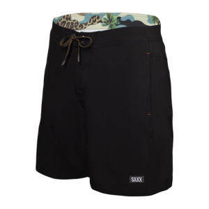 "BETAWAVE 2N1 17"" Swim Shorts in Black by SAXX"