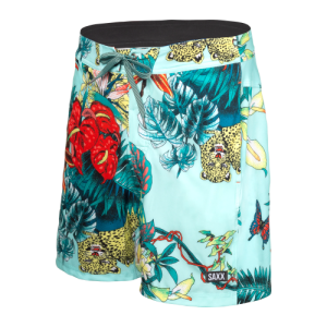 "BETAWAVE 2N1 17"" Swim Shorts in Blue Disco Jungle by SAXX"