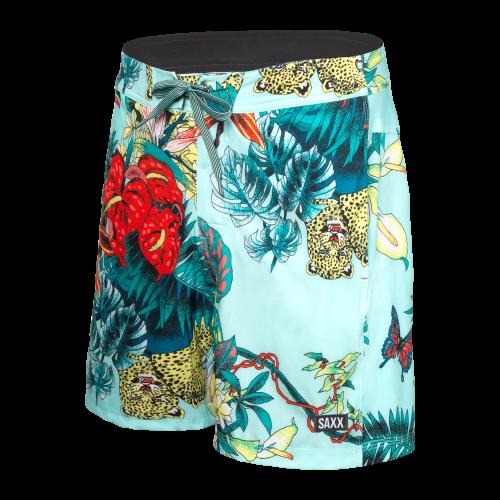 "BETAWAVE 2N1 17"" Swim Shorts in Blue Disco Jungle by SAXX"