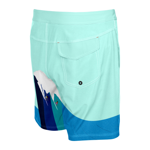 """BETAWAVE 2N1 19"""" Swim Shorts in Blue Riding Giants by SAXX"""