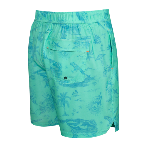 "OH BUOY 2N1 7"" Swim Shorts in Fiji Astro Surf and Turf by SAXX"