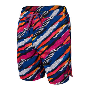 "OH BUOY 2N1 7"" Swim Shorts in Multi Ripped Camo by SAXX"