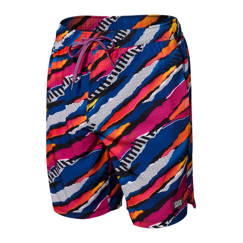 """OH BUOY 2N1 7"""" Swim Shorts in Multi Ripped Camo by SAXX"""