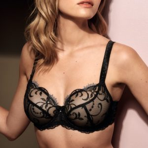 Ginger Low Neck Bra in Black by Empreinte
