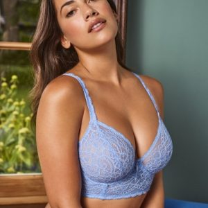 I do Deep Plunge Balcony Longline Bra In Santorini Blue by Prima Donna Twist