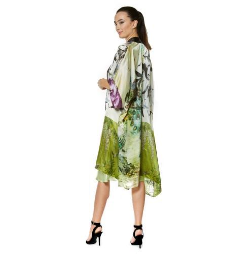 Peacock Gatsby Kimono by Christine Silk